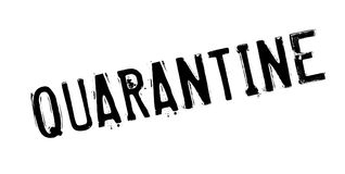 Quarantine rubber stamp. Grunge design with dust scratches. Effects can be easily removed for a clean, crisp look. Color is easily changed Stock Images