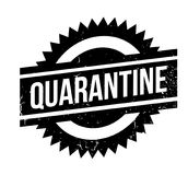 Quarantine rubber stamp. Grunge design with dust scratches. Effects can be easily removed for a clean, crisp look. Color is easily changed Stock Photos