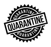 Quarantine rubber stamp. Grunge design with dust scratches. Effects can be easily removed for a clean, crisp look. Color is easily changed Stock Photography