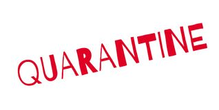 Quarantine rubber stamp. Grunge design with dust scratches. Effects can be easily removed for a clean, crisp look. Color is easily changed Stock Photo