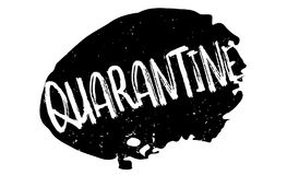 Quarantine rubber stamp. Grunge design with dust scratches. Effects can be easily removed for a clean, crisp look. Color is easily changed Stock Image