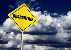 Quarantine sign Stock Image