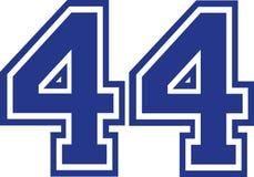 Quarenta e quatro faculdades número 44 ilustração stock