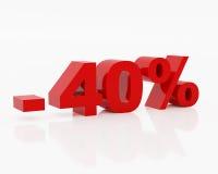 Quarenta por cento Imagens de Stock