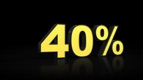 Quarenta rendição dos por cento 3D de 40% Imagens de Stock Royalty Free
