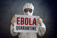 Quarentena de Ebola Foto de Stock Royalty Free