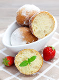 Quark balls. Fresh baked quark balls in a bowl Royalty Free Stock Photography
