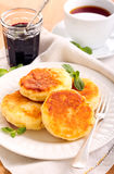 Quark cheese fried cakes Royalty Free Stock Photography