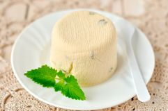 Quark Dessert Royaltyfria Bilder