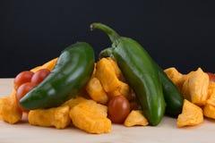 Quarkpfeffer und -tomaten Lizenzfreies Stockfoto