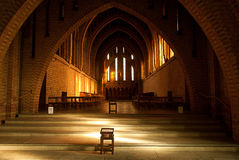 Quarr Abbey. Inside Quarr Abbey on Isle of Wight stock image