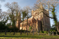Quarr Abbey. On Isle of Wight royalty free stock photography