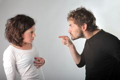 Quarrel. Of a young couple