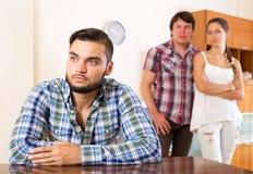 Quarrel among adult partners Stock Photography