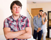 Quarrel among adult partners Stock Image