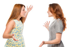 Quarrel best friends isolated Royalty Free Stock Image
