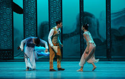 Quarrel between brothers-The second act of dance drama-Shawan events of the past. Guangdong Shawan Town is the hometown of ballet music, the past focuses on the Royalty Free Stock Photography