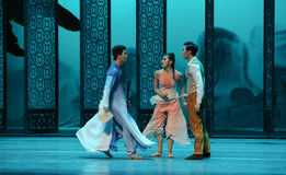 Quarrel between brothers-The second act of dance drama-Shawan events of the past. Guangdong Shawan Town is the hometown of ballet music, the past focuses on the Stock Images
