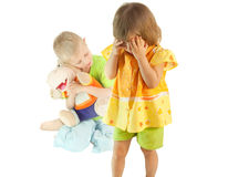 Quarrel between children Royalty Free Stock Photography