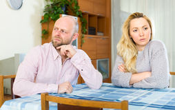 Quarrel in a couple Stock Photography
