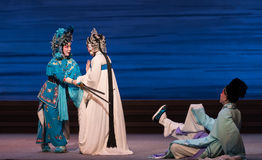 """Quarrel with each other and become enemies-The seventh act Disintegration of families-Kunqu Opera""""Madame White Snake"""". Legend of the White Snake is one of Royalty Free Stock Photo"""