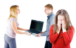 Quarrel in the family Stock Photo