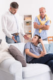 Quarrel between father and son Royalty Free Stock Photos