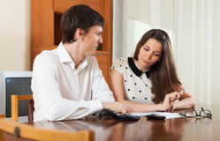 Quarrel because of financial documents Royalty Free Stock Photo