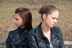 Quarrel girls Royalty Free Stock Photos