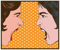Quarrel girls. Two quarrel girls pop art comics Stock Images