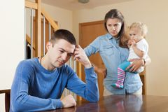 After quarrel at home Royalty Free Stock Photo
