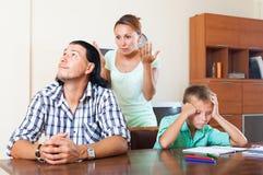 Quarrel at home Stock Images