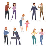Quarrel Icons Collection Stock Photography