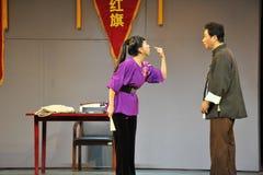 Quarrel-Jiangxi OperaBlue coat Stock Photography