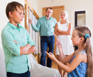 Quarrel between kids Royalty Free Stock Photo