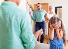 Quarrel between kids Stock Photo