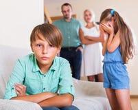Quarrel between kids Royalty Free Stock Photos