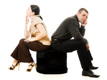Quarrel between men and women Royalty Free Stock Photography