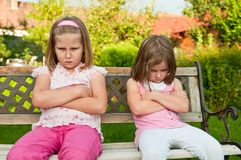 Quarrel - offended sisters Stock Photography