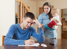 Quarrel over money Stock Photography