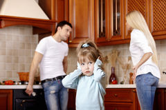 Quarrel of parents Stock Photography
