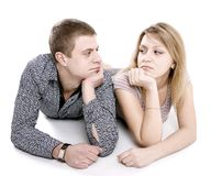 Quarrel and reconciliation Stock Photos