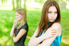 Quarrel two friends Royalty Free Stock Photography