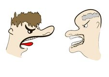 Quarrel Royalty Free Stock Images