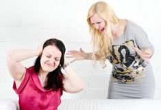 Quarrel between two women Royalty Free Stock Images