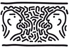 Quarrel (vector). Drawing freehand (cmyk to rgb royalty free illustration