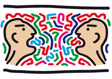 Quarrel (vector). Drawing freehand (cmyk to rgb Stock Photos