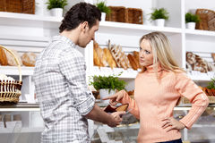 Quarrel of a young couple Royalty Free Stock Photography