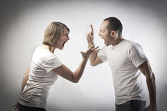 Quarreling couple Stock Images