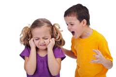 Quarreling kids Royalty Free Stock Photography